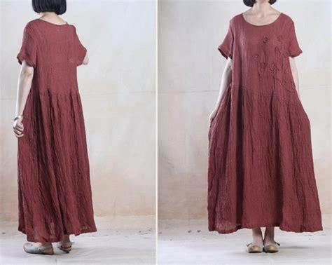 Longdress Plus Cd linen dress plus size robe dress maxi robe embroidery