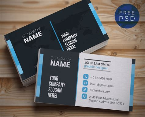 free corporate business card templates top 18 free business card psd mockup templates in 2018