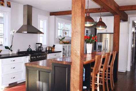 kitchen island ideas with bar kitchen island bar ideas with grothouse wood surfaces blog