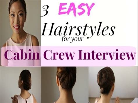 best hairdo for a flight attendant easy hairstyles for your cabin crew interview