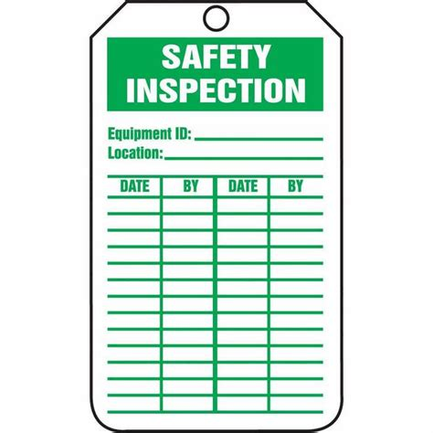 Inspection Tag Template tag safety inspection 5 7 8 x 3 3 8 rv plastic from davis