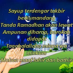 gambar kata bijak ucapan selamat hari raya idul fitri terbaru