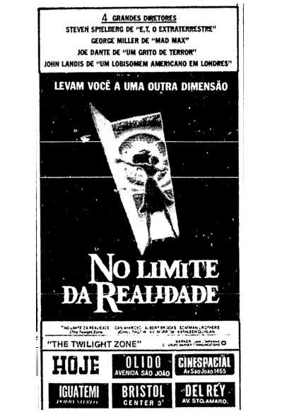ANÚNCIO: No Limite da Realidade (1984)   Toca o Terror