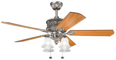 Traditional Ceiling Fans With Lights Kichler Lighting 300161ap Corinth 52 Quot Traditional Ceiling Fan Kch 300161 Ap