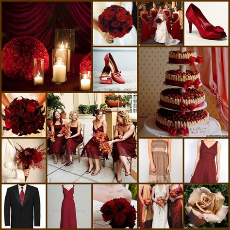 tbdress red wedding theme looks romantic and lovely