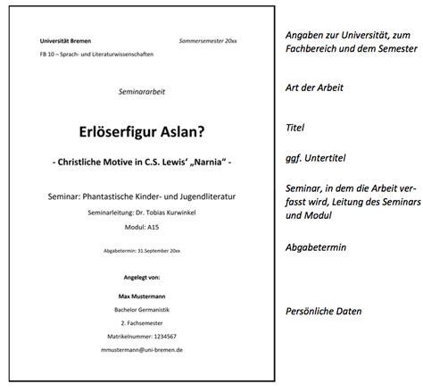Vorlage Word Hausarbeit Jura Hausarbeit Jura Deckblatt