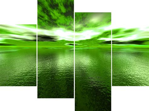 green wall decor wall art designs green wall art large 4 panel green sea