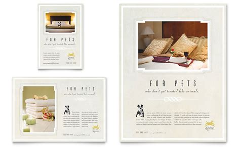 template flyer hotel pet hotel spa flyer ad template word publisher