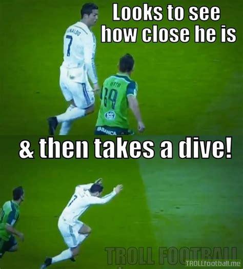 cristiano ronaldo dive ronaldo s diving tactics troll football