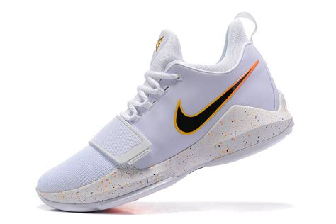 paul george basketball shoes paul george nike pg 1 destination white black