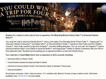 Resort Sweepstakes - books a million s universal orlando resort sweepstakes