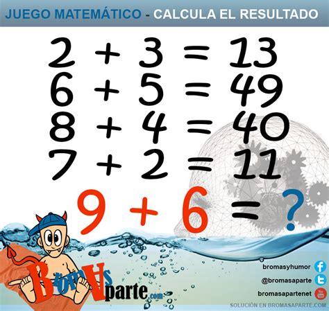 imagenes matematicas recreativas calcula el resultado de estas operaciones matem 225 ticas