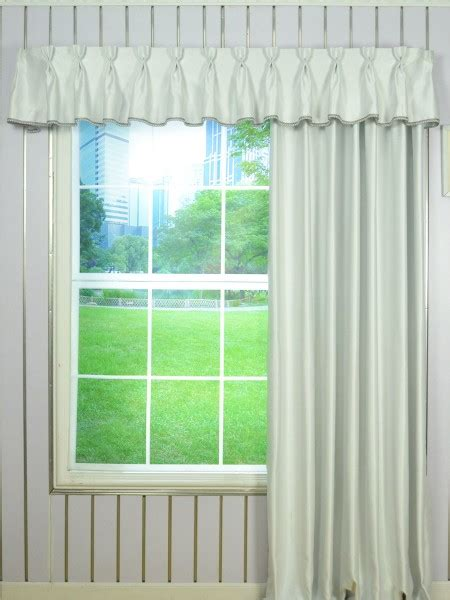 fabric trim for curtains solid double pinch pleat valance and curtains with gimp