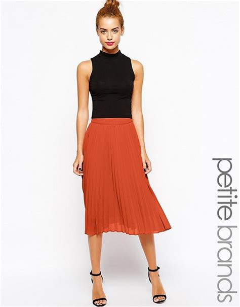 Chiffon Midi Pleated Skirt true decadence true decadence pleated