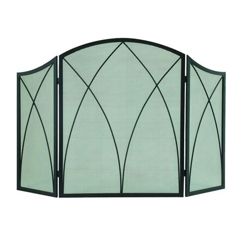 Arched Fireplace Screens by Pleasant Hearth Arched 3 Panel Fireplace Screen 959 The