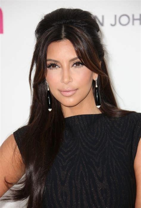 kim kardashian shiny long hairstyles hairstyles weekly