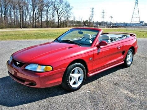 95 mustang convertible for sale purchase used 95 mustang gt convertible 5 0l v8 auto
