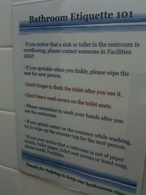 work bathroom rules bathroom etiquette at work signs bathroom design 2017 2018