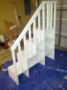 Bunk Bed Stairs Only White Classic Bunk Bed With Sweet Pea Stairs Diy Projects