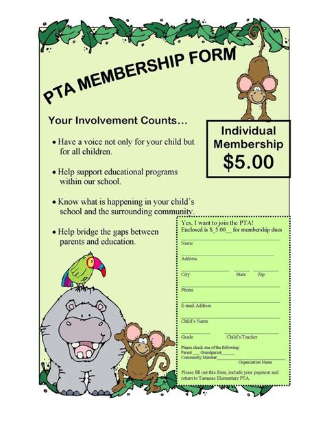pta membership card template best 25 pto membership ideas on