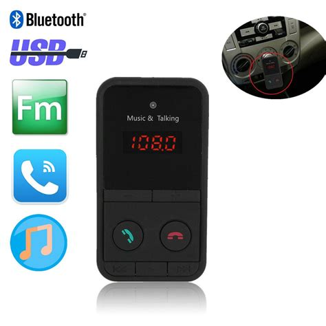 Remote Mp3 eincar bluetooth car kit player radio transmitter free car mp3 player fm