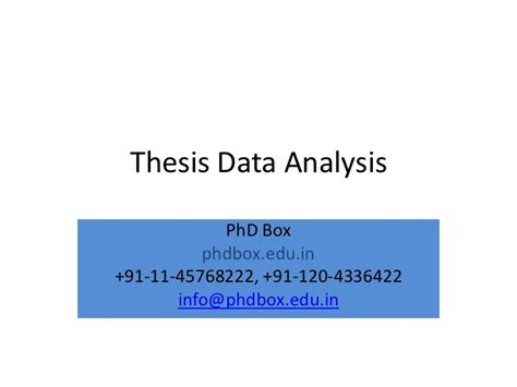 thesis data analysis thesis data analysis