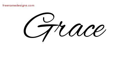 grace name tattoo designs grace this cursive themed name graphic includes custom