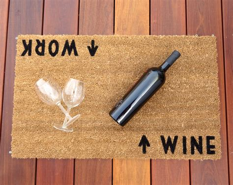 unique doormats wine work door mat doormat perfect housewarming gift