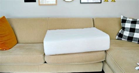 fixing sofa cushions quick and easy fix for sagging sofa cushions hometalk