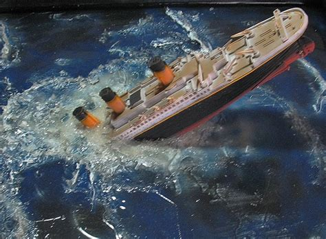 Titanic Sinking Model by Sinking Titanic Model Project On Behance