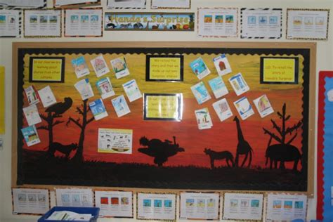 themes in stories ks2 stories from africa handa s surprise classroom display