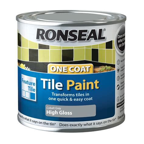 ronseal grey high gloss tile paintl departments