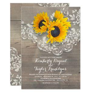 sunflower wedding invitations zazzle