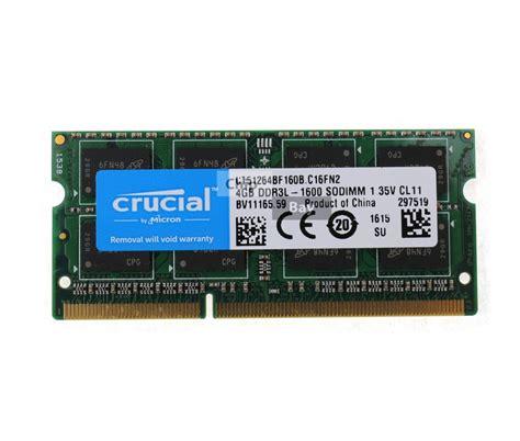 Crucial 4gb Ddr3 1600mhz micron crucial ddr3 4gb 2rx8 1600mhz pc3 12800 laptop ram memory module chipbay
