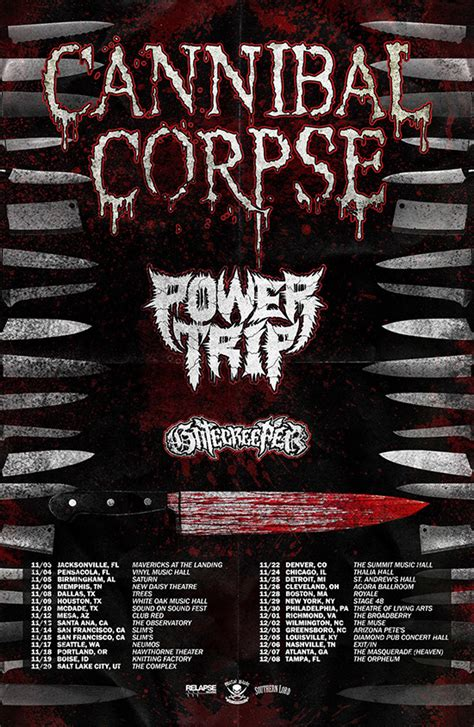 cannibal corpse announces usa   power trip