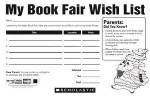 Classroom Wish List Template Sterling Public Schools Book Fair