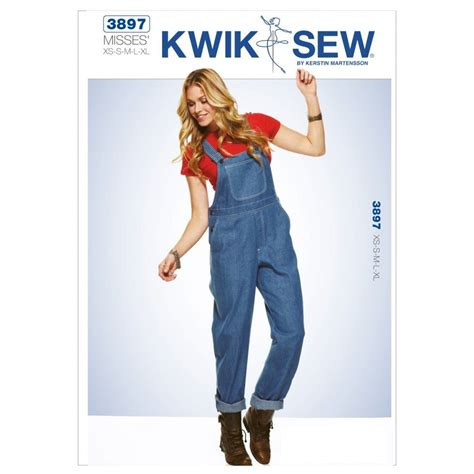 sewing pattern overalls kwik sew ladies sewing pattern 3897 dungarees overalls
