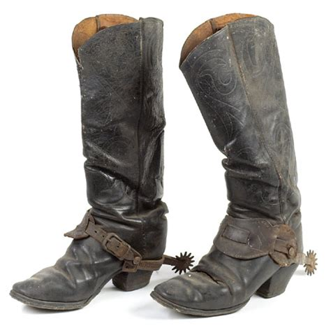 mens cowboy boots with spurs harry miller s cowboy boots silver overlay spurs 1360598