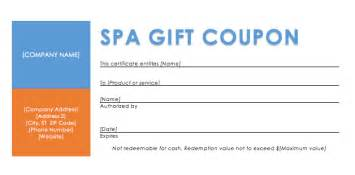 spa coupon template spa gift coupon template coupon templates