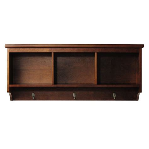 home depot wall shelving home decorators collection 36 in w x 36 in l chestnut decorative beveled shelf sk17070b the