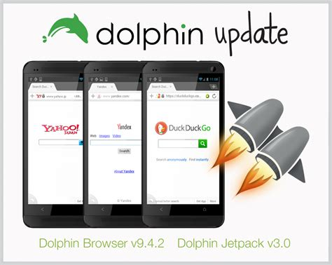dolphin jetpack apk dolphin for android jetpack update smoother browsing added search engines dolphin browser