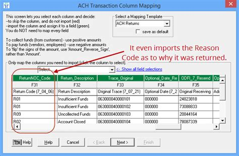 bank ach code ach return files creating originating and consuming