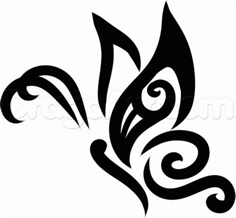 butterfly tattoo to draw how to draw a tribal butterfly tattoo step 7 face paint