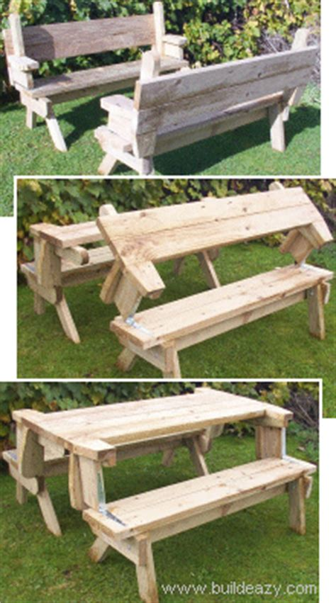 picnic table that turns into a bench how to make a wood picnic table that converts to two