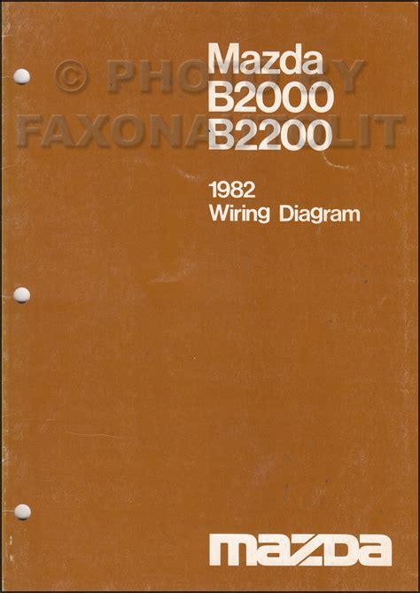 1982 1983 mazda b2000 b2200 truck repair shop manual original 1986 mazda b2000 wiring diagram wiring diagram manual