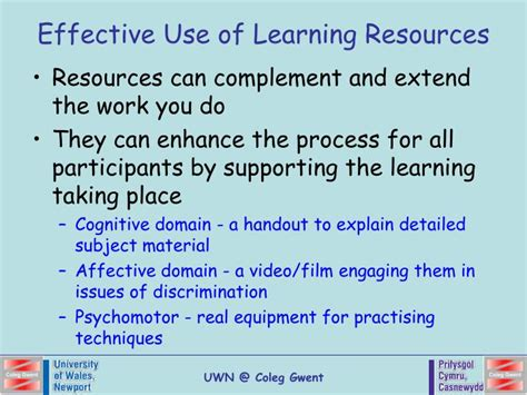 use layout and presentation of learning materials effectively ppt teaching and learning resources powerpoint