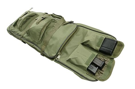 Tas Airsoft Hoozler Gun Bag asn airsoft replica sniper rifle bag 96 110 cm olive