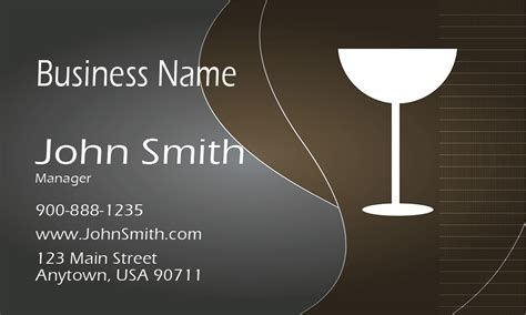 wine card template wine bar business card design 1001141