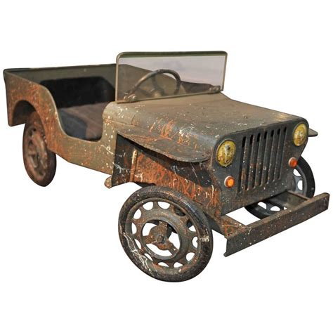 Where Is Jeep Manufactured Jeep Iron Pedal Car Manufactured In Circa 1950
