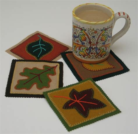 felt applique patterns felt mug mats with free pattern felt and wool wonders